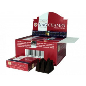 Golden Nag Champa Masala - Incense Cones