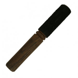 Wooden stick with black felt - metal bowls