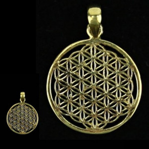 Pendant - Flower of Life - gold-plated