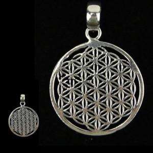Pendant - Flower of Life - silver-plated