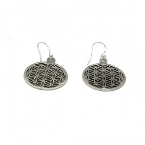 Earrings - Flower of Life - silver-plated