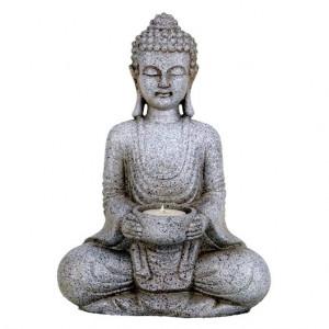 Stone Buddha - candleholder 27cm