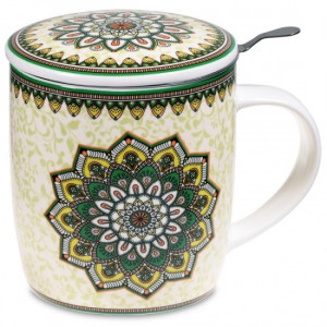 Tea Infuser Mug Mandala green