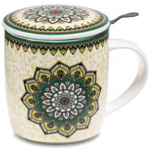 Tea Infuser Mug Mandala green