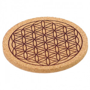 Flower of life Symbol - Cork Mug Coaster