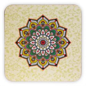 Podkładka pod kubek - Zielona Mandala