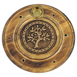 Podstawka drewniana na kadzidła - Drzewo Życia