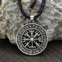 Amulet of the Viking Compass (Silver Plated)
