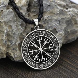 Amulet Kompas Wikingów (Posrebrzany)