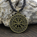 Amulet of the Viking Compass (Golden Plated)