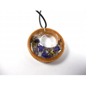 Round flower necklace - blue 2
