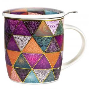 Tea Infuser Mug Patchwork