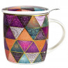 Tea Infuser Mug Patchwork