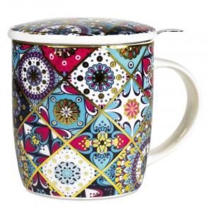 Tea Infuser Mug Oriental