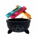 Soapstone vessel to make incense Pentangle