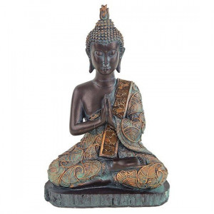 Praying Buddha antique finish Thailand 23cm
