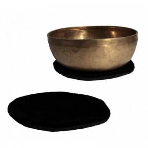 Płaska Okrągła Poduszka Pod Misy Tybetańsie 15cm Czarna