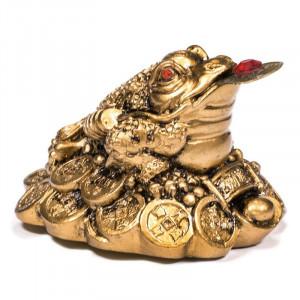 Feng Shui Statuetka Żaba - Bogactwo - Pozłacana
