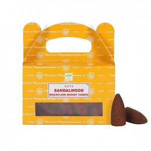 Sandalwood - Cofające Kadzidełka Stożkowe