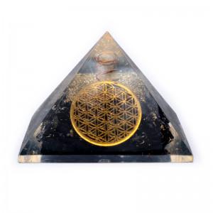 Turmalin Kwiat Życia - Orgonit Piramida