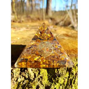 Tygrysie Oko Drzewo Życia - Orgonit Piramida