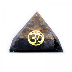Turmalin OM 7 czakr - Orgonit Piramida