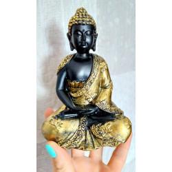 Figurka Modlący Budda 14cm (pozłacany)