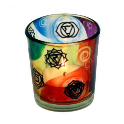 Candle light holder 7 chakras