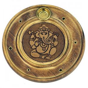 Podstawka drewniana na kadzidła - Ganesha
