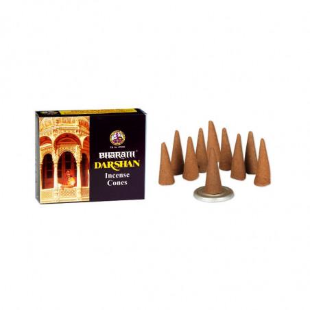 Kadzidełka stożki Bharath Darshan 12szt