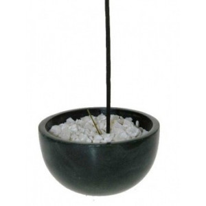 Incense stick bowl black soapstone